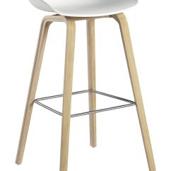 Bar Stool Chair Legs White Office Staples About A Aas 32 H 75 Cm Plastic And Wood