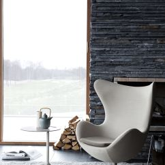 Jacobsen Egg Chair Leather Childrens Table And Chairs Wooden Swivel Armchair - / Black By Fritz Hansen