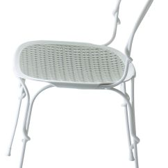 White Stacking Chairs Plastic Tablecloth And Chair Covers Vigna Metal Seat Frame