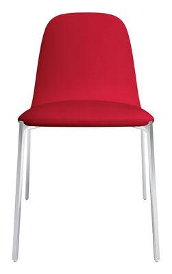 elegant arredamento sedie sedia imbottita ella di zanotta rosso piedi in with sedia imbottita
