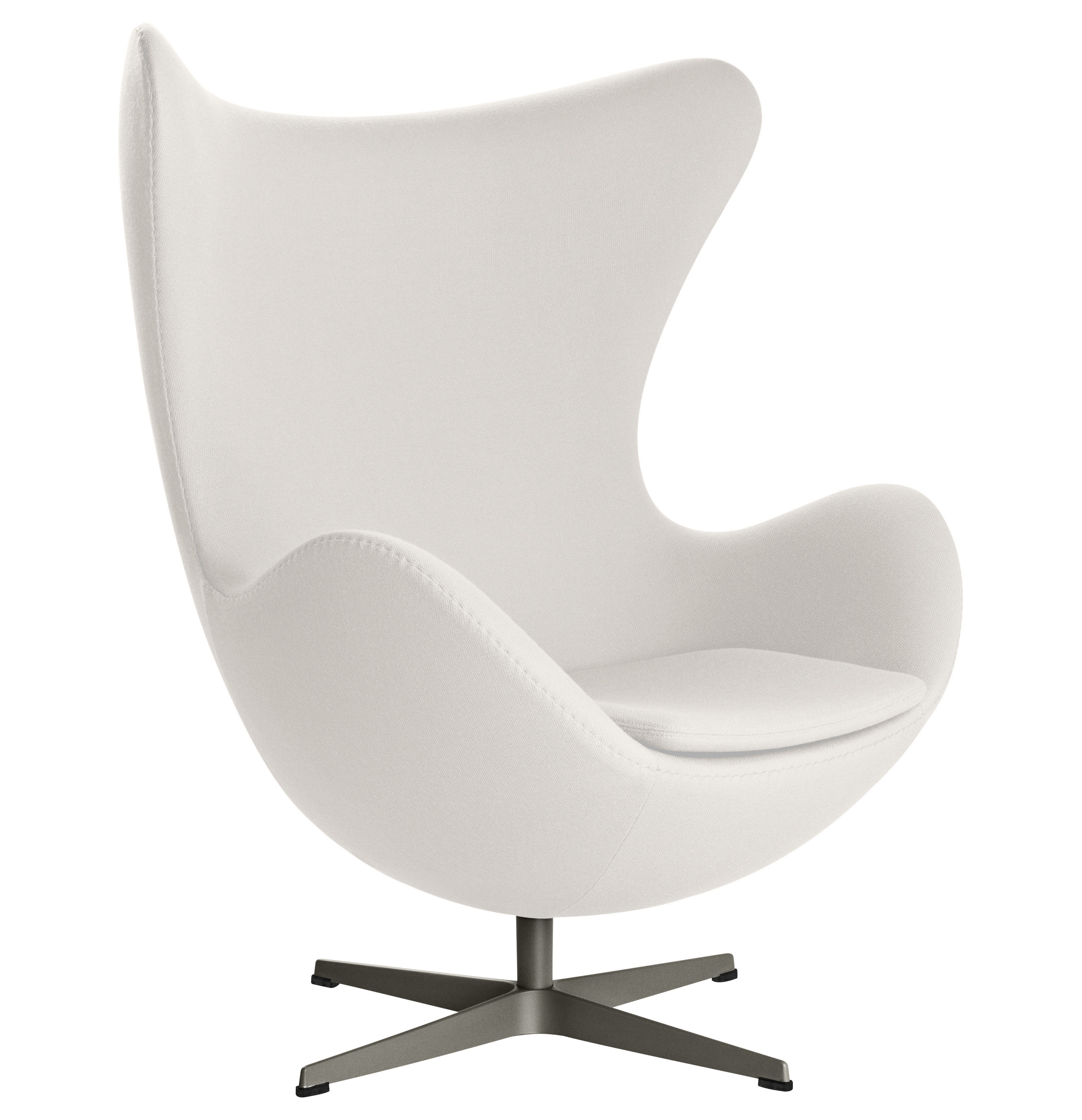 swivel chair egg swing table armchair gabriele fabric white by fritz