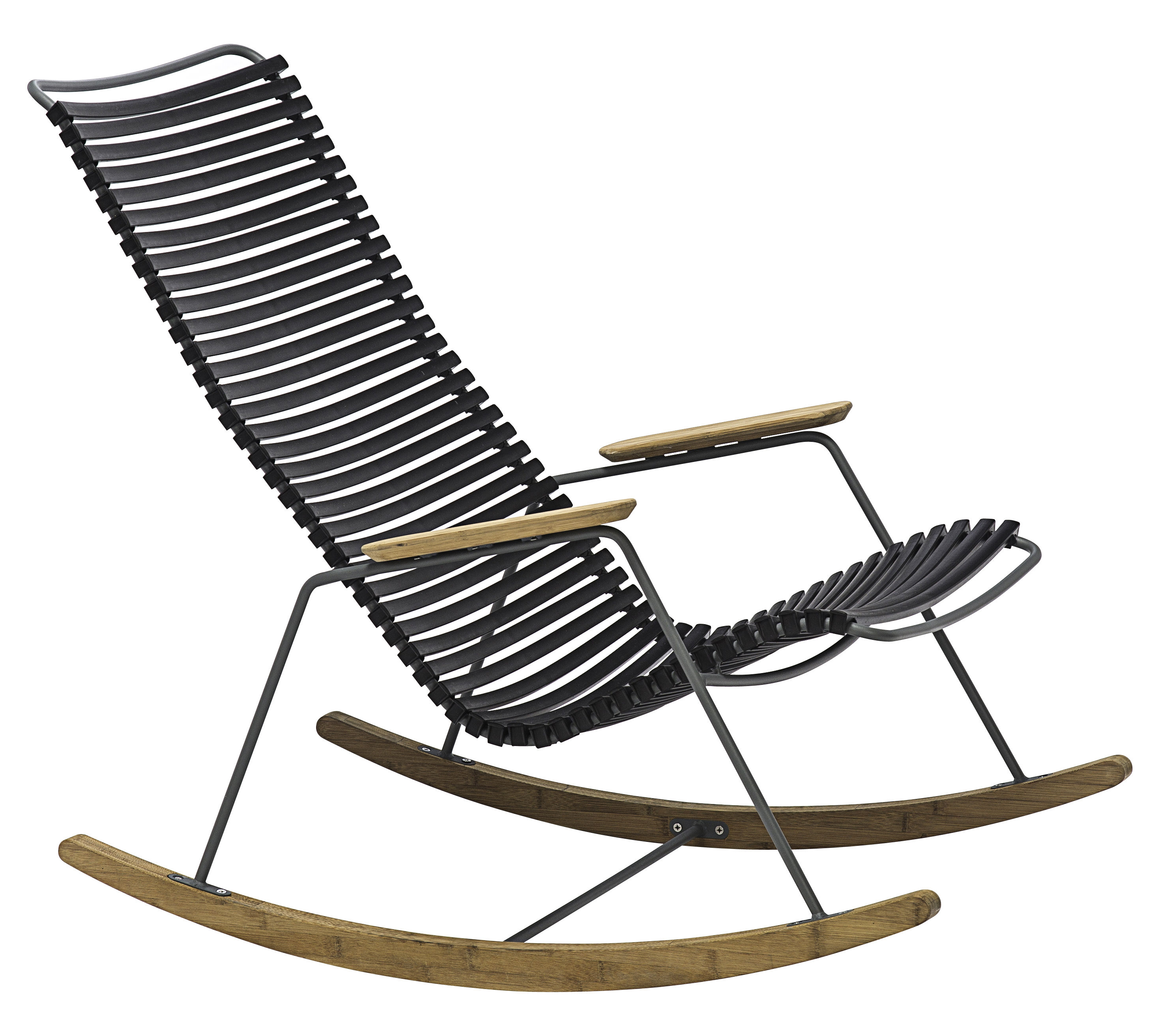 Plastic Rocking Chair Click Rocking Chair Plastic And Bamboo Black By Houe