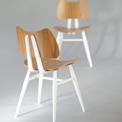 Ercol Chair Design Numbers American Rocking Styles Butterfly Wood 1958 Reissue Half White By