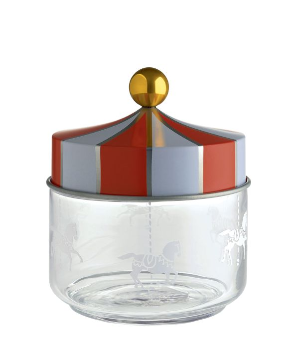 Circus Airtight jar - 50 cl 50 cl / Red & white by Alessi