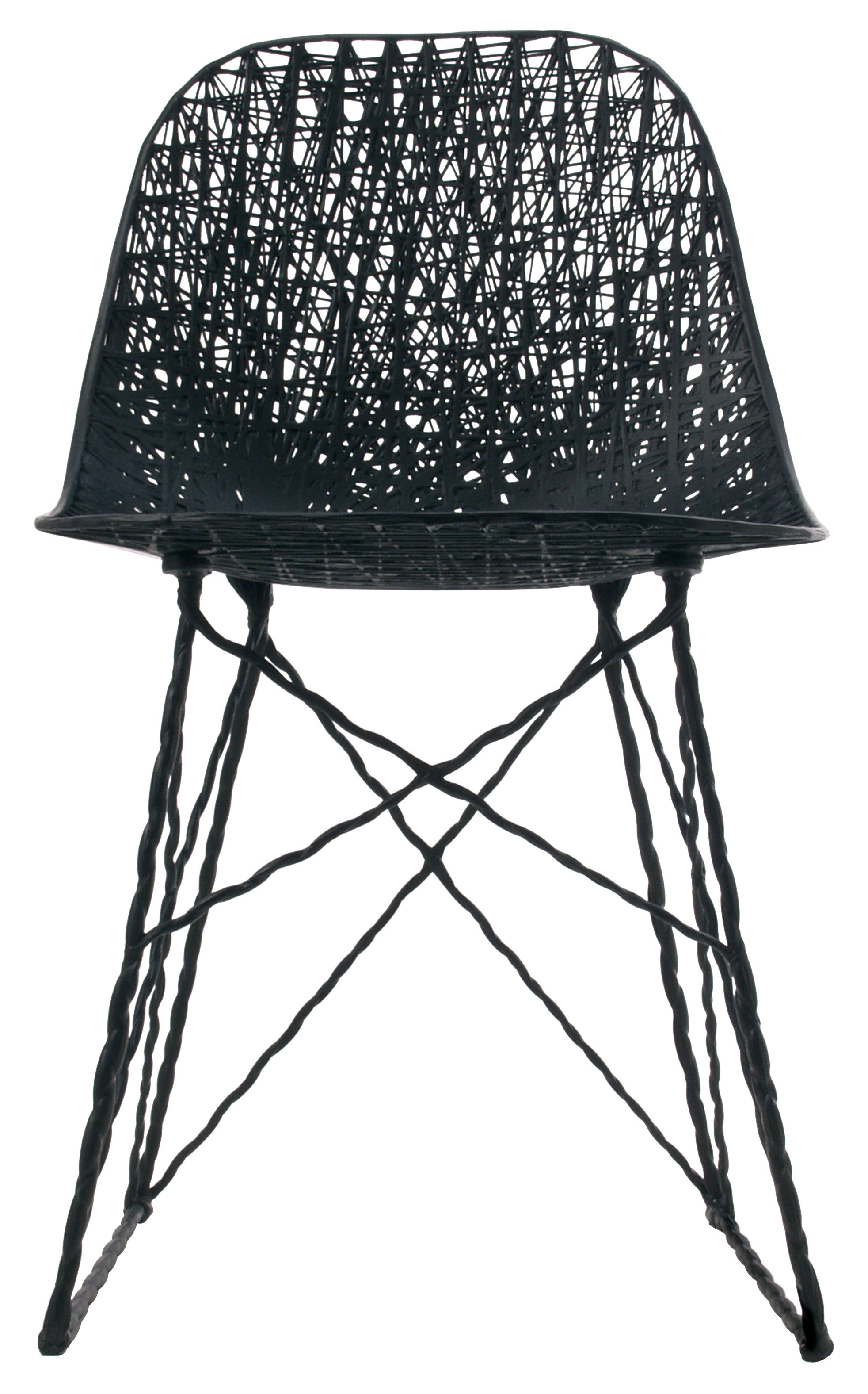Chaise Carbon Outdoor  Fibre De Carbone Noir  Moooi