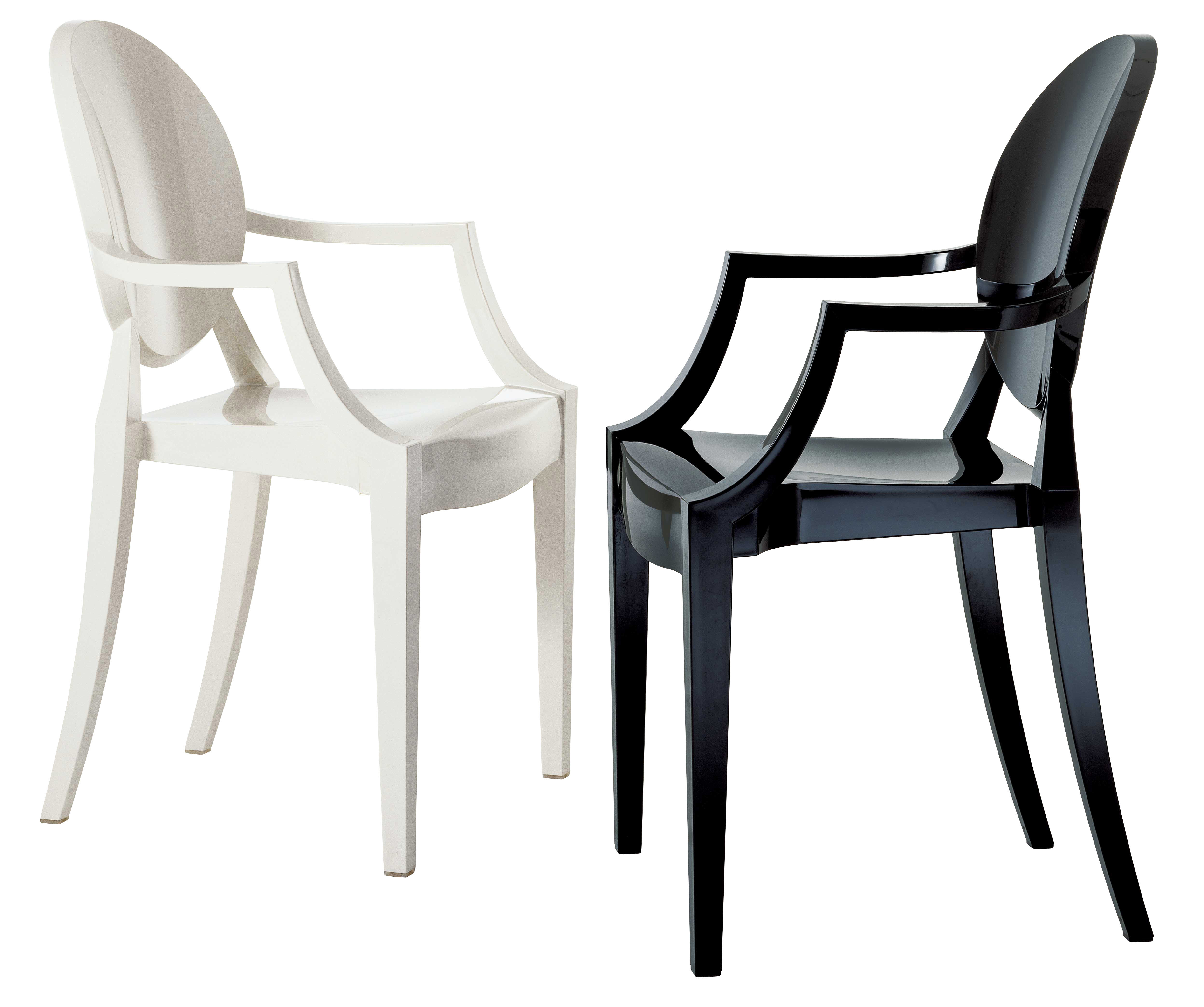 philippe starck ghost chair patio cushions big lots fauteuil empilable louis polycarbonate noir opaque
