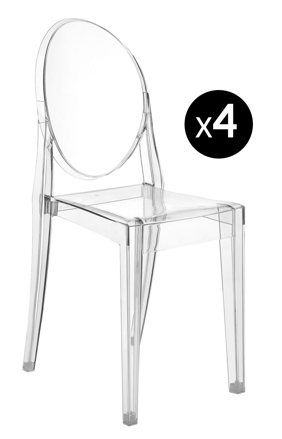 White Stackable Chairs Victoria Ghost Stackable Chair Transparent Set Of 4 By Kartell