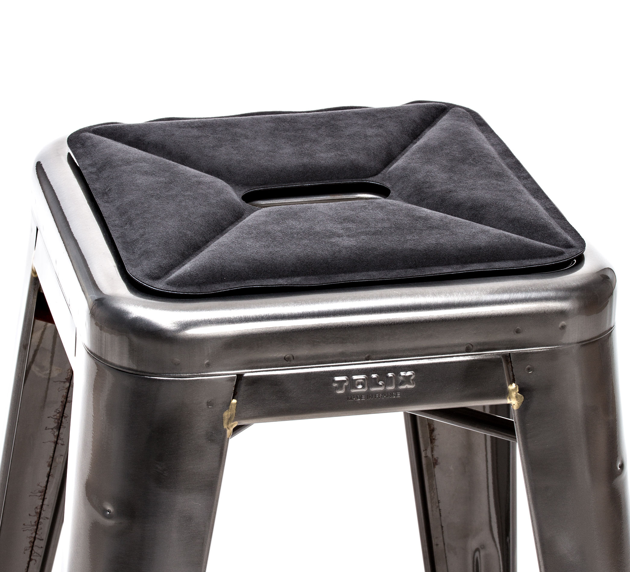 tolix chair cushion light brown leather stool seat pad lovingheartdesigns flat anthracite by made in design uk