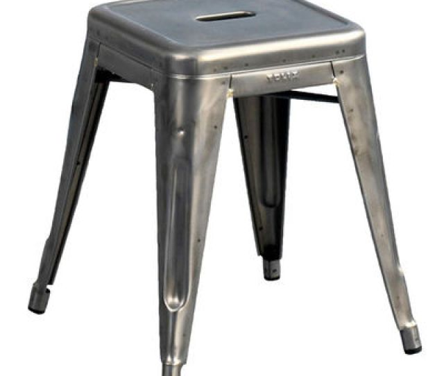 Furniture Stools H Stool Varnished Raw Steel H 45 Cm By Tolix
