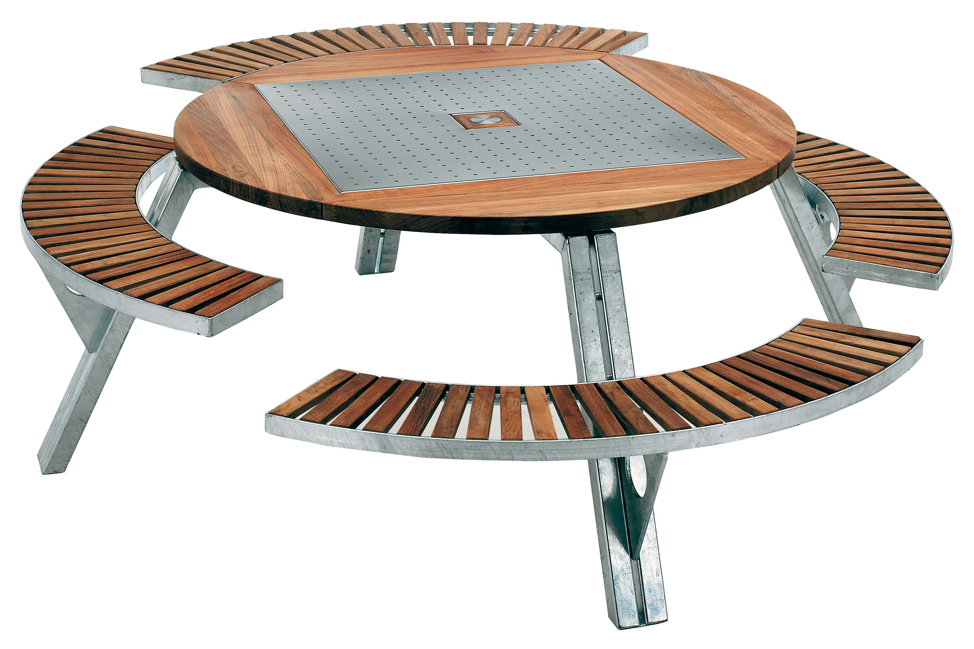 Banc De Jardin Original Gargantua Round Table Adjustable Table And Bench Set By Extremis