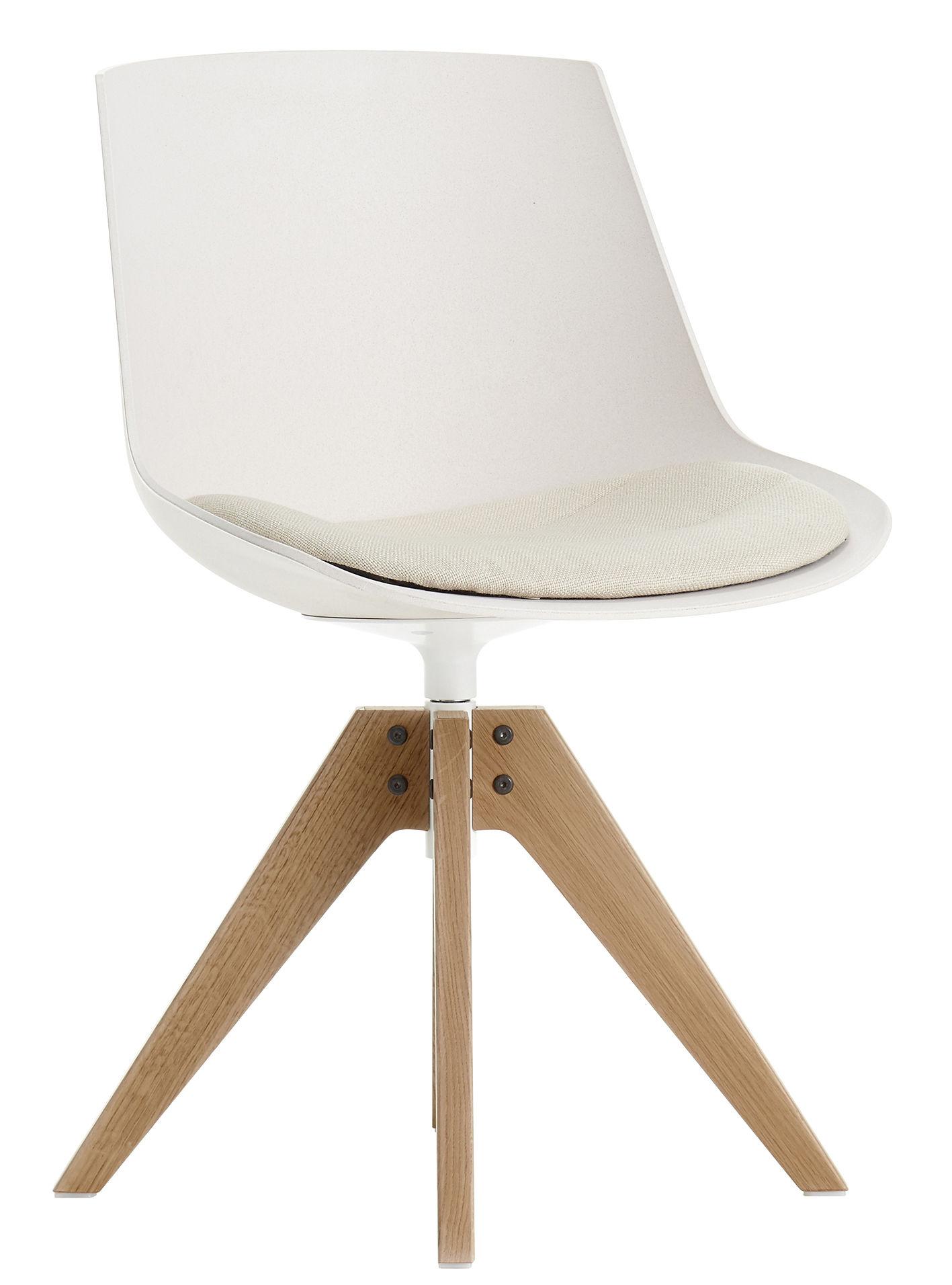 swivel chair feet tub fabric accent patchwork flow eco by mdf italia white light oak l 56 x seat cushion 4 vn