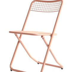 Folding Chair Uk Linen Covers 085 By Houtique Powder Pink L 45 X H 77 Made In Metal Mesh