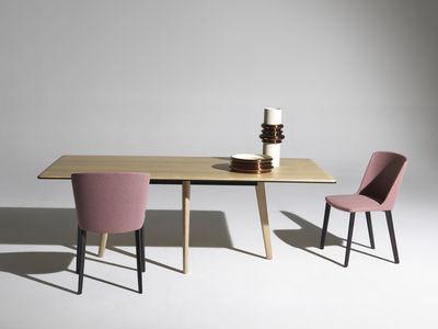table rectangulaire francois 210 x 100 cm plateau bois driade