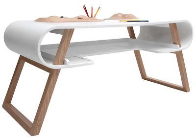 mobilier mobilier kids bureau enfant rubens compagnie blanc hetre massif