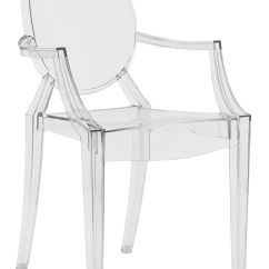 Transparent Polycarbonate Chairs Rocking For Kids Stackable Armchair Louis Ghost By Kartell Crystal L Furniture