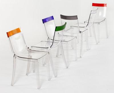 chaise empilable hi cut transparente polycarbonate kartell