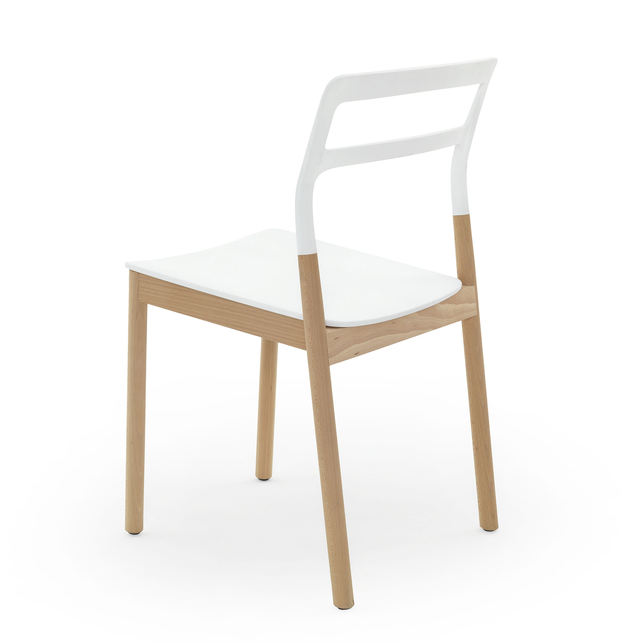 white stacking chairs plastic seated chair exercises for obese florinda wood and by de