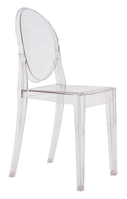 chaise empilable victoria ghost transparente polycarbonate kartell