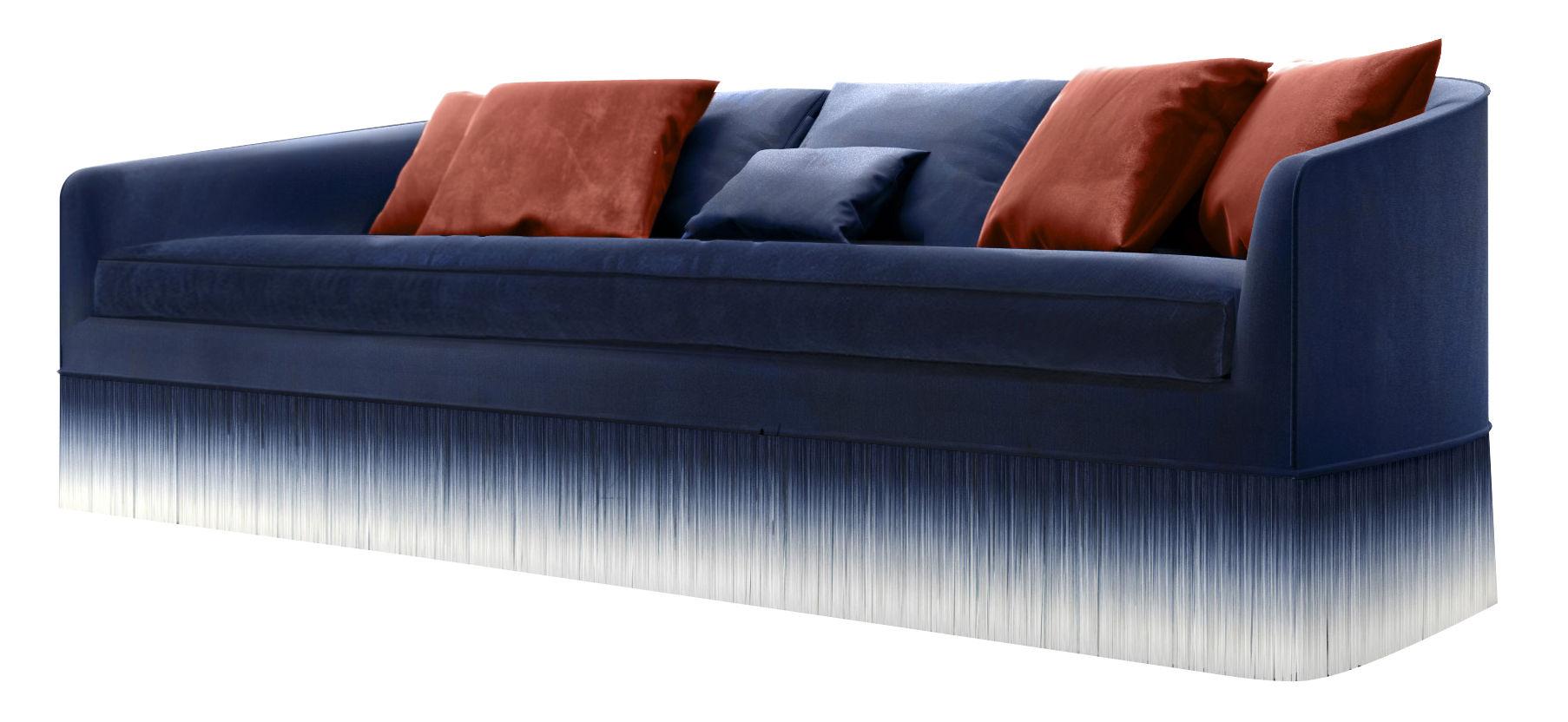 sofa 250cm diwan in usa canapé droit amami 3 places l 250 cm velours