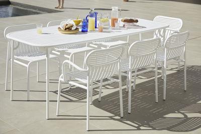 table rectangulaire week end 180 x 85 cm aluminium petite friture