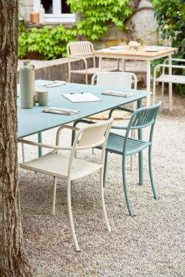 tolix patio rectangular table green made in design uk