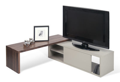 slide extensible tv cabinet swivel l 110 to 203 cm by pop up home
