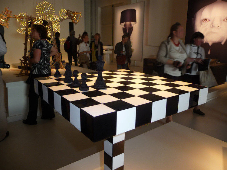 Small Table Chess Table By Moooi WhiteBlack Made In Design UK