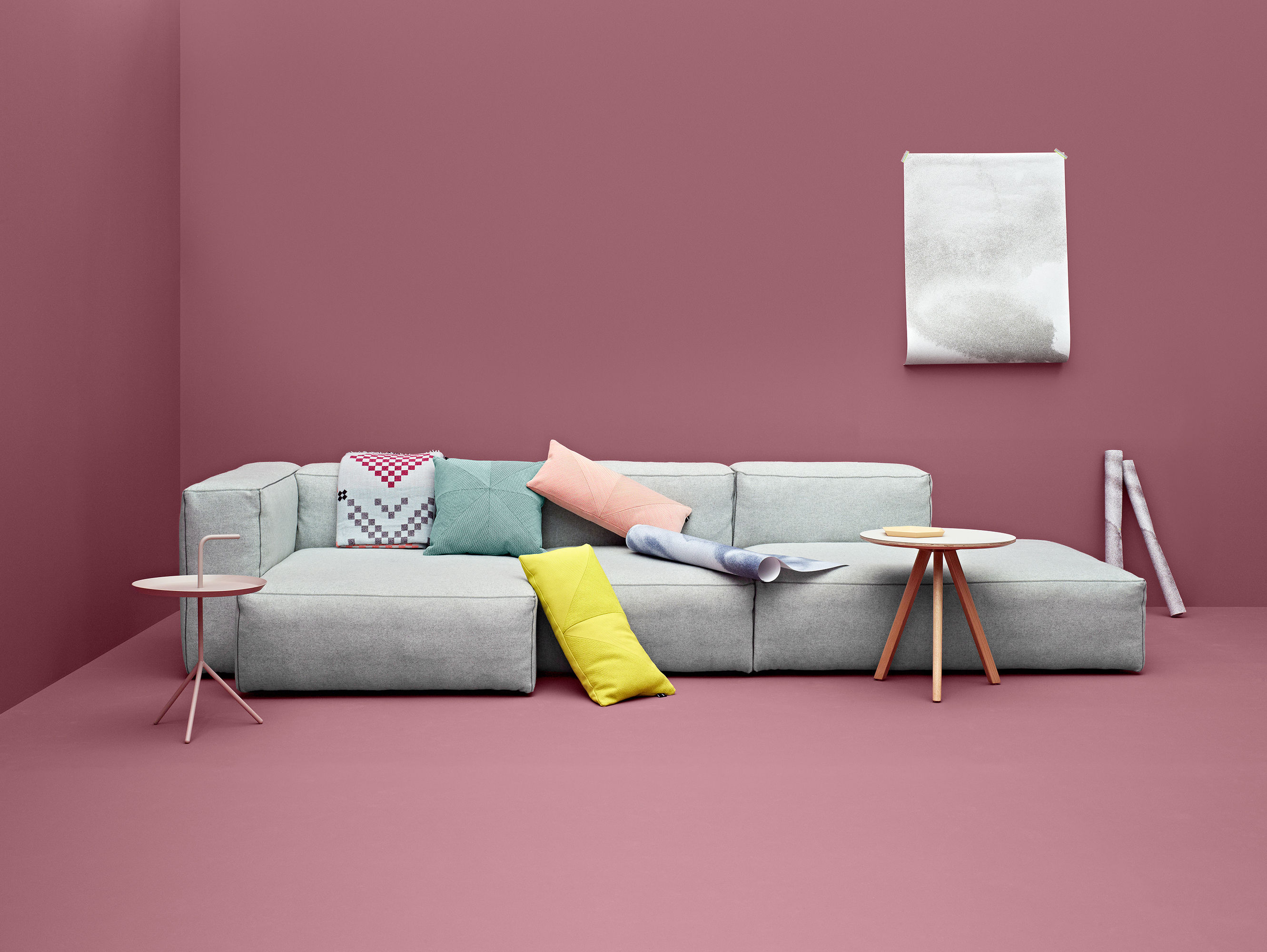 hay sofa kvadrat la z boy leather reclining soft mags corner left armrest l 302 cm light grey divina furniture sofas by