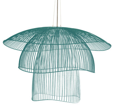 Suspension Papillon Forestier  Bleu Gris  100 cm  Made In Design