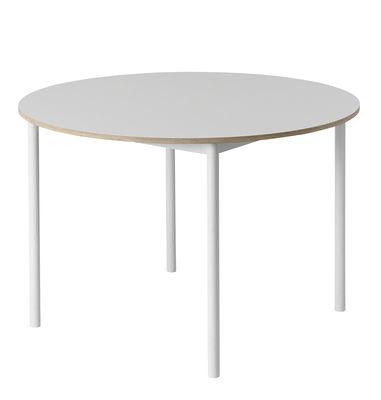 table ronde base plateau bois o 110 cm muuto