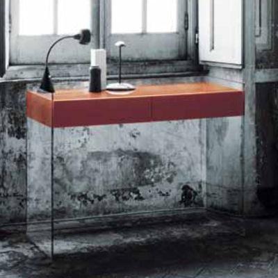 float konsole 2 schubladen h 90 cm glas italia
