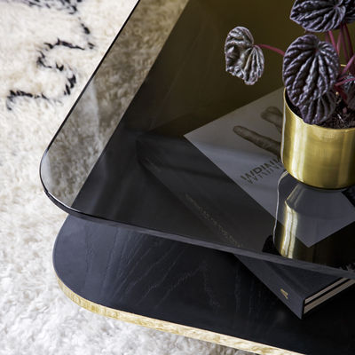 table basse lounge red edition noir or metal made in design