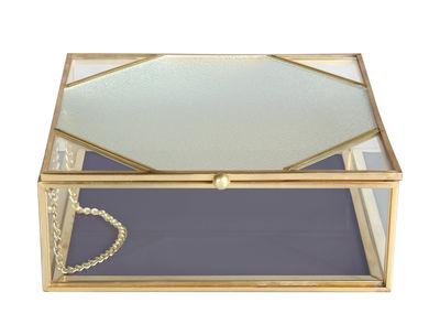 boite 16 x 16 cm verre metal klevering