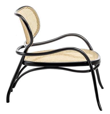 fauteuil bas lehnstuhl bois cannage wiener gtv design