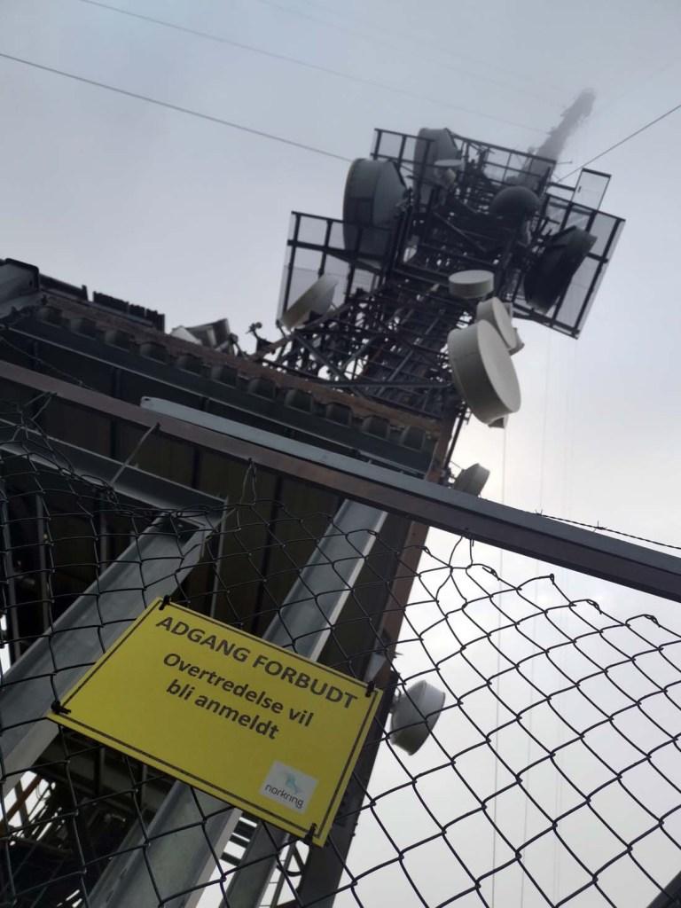 TV-tårnet på toppen av Nordhue.