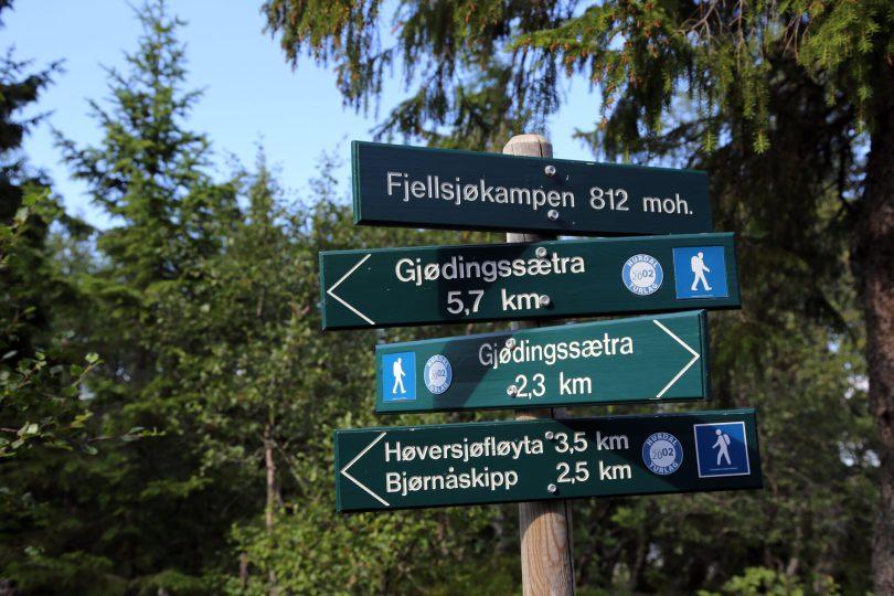 Fjellsjøkampen i Hurdal var lenge fylkets høyeste med 812 moh.