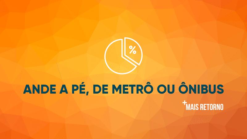 Ande a pé, de metrô ou ônibus