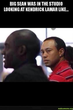 Big Sean Was In The Studio Looking At Kendrick Lamar Like