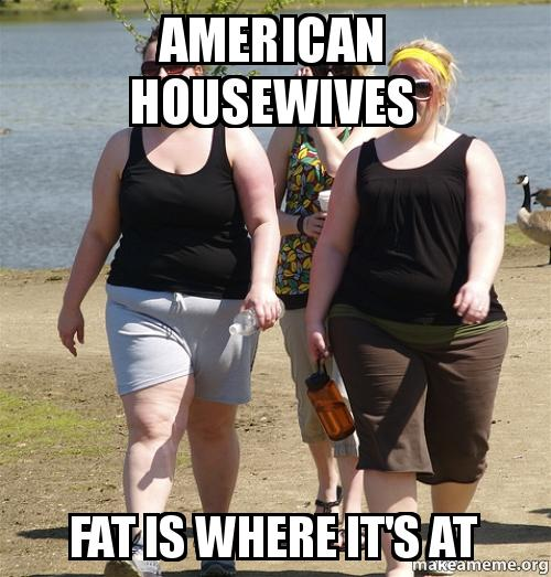 american housewives fat is where it39s at  Make a Meme