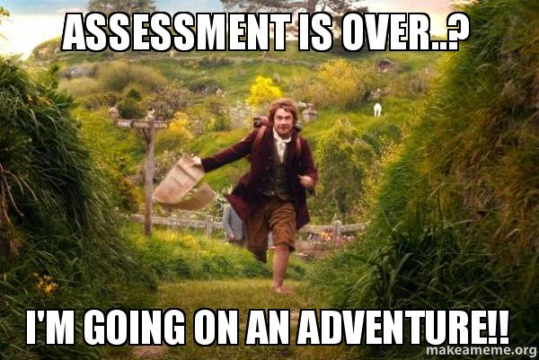 Image result for assessment meme