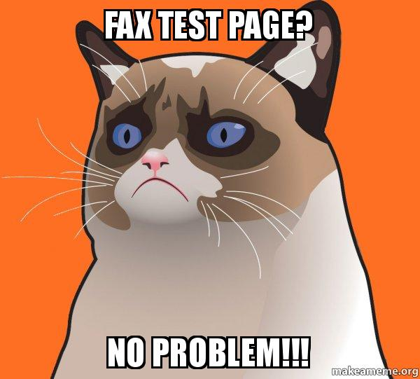 fax test page no