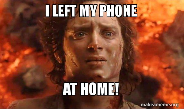 Cell Phone My I Home Left