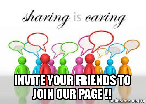 Invite Your Friends To Join Our Page