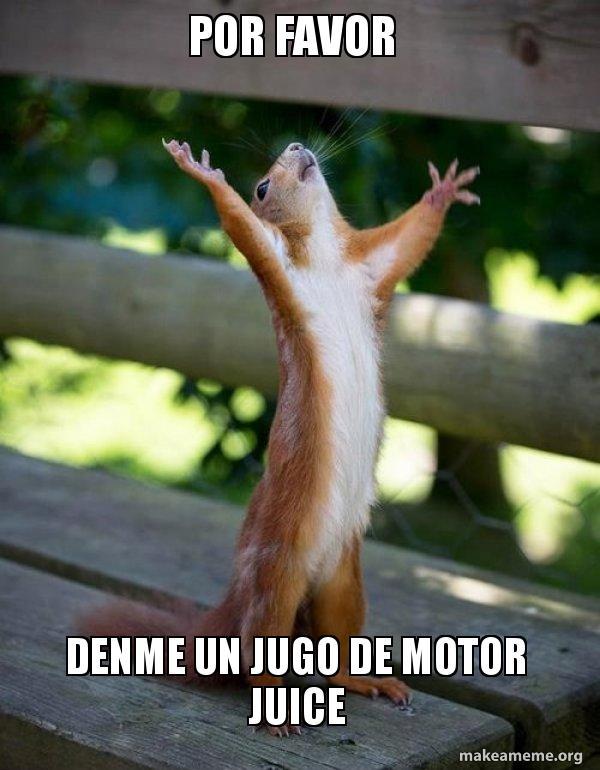 Por Favor Meme : favor, Favor, Denme, Motor, Juice, Happy, Squirrel
