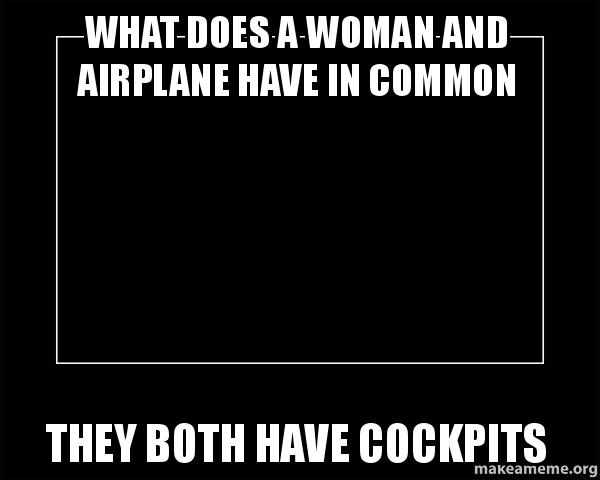 What Does A Woman And Airplane Have In Common They Both