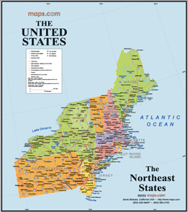 Maps Usa Map Northeast