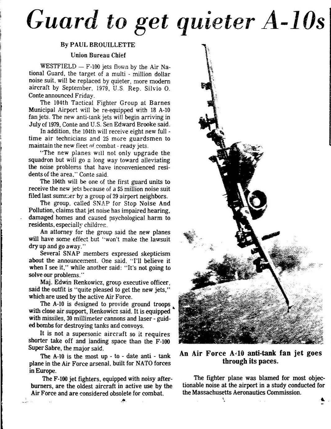 From The Republican archives: Images of Page 1 from the