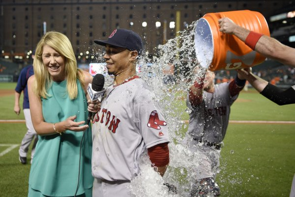 Boston Red Sox Hitting Poor Nesn Reporter Guerin