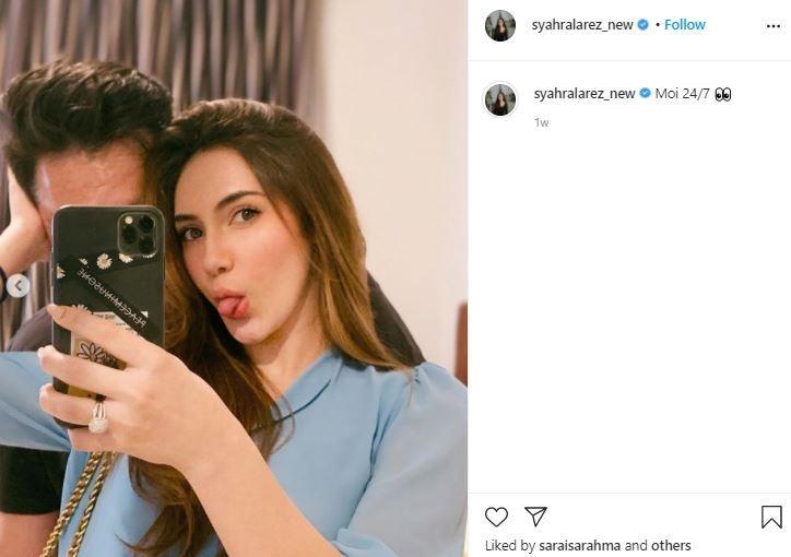 Calon suami Syahra Larez. (Instagram/@syahralarez_new)