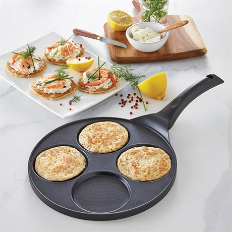 poele 4 blinis ou pancakes a induction 26 5 cm